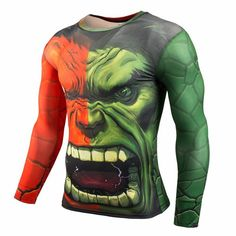 2016 new Men Crossfit Long Sleeve Compression Shirt Marvel 3D Superhero Superman T Shirt Tights Fitness Men Tops & Tees