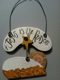 Jesus is Risen Ornament by creativityplace on Etsy, $7.50