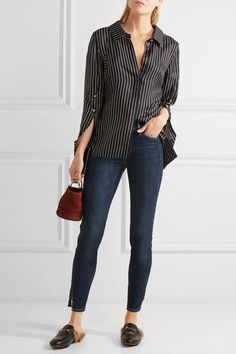 FRAME - Le High Skinny Jeans - Dark denim -