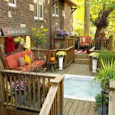Hot Tub~Always a treat~on a deck,patio,or porch!...Make a Splash