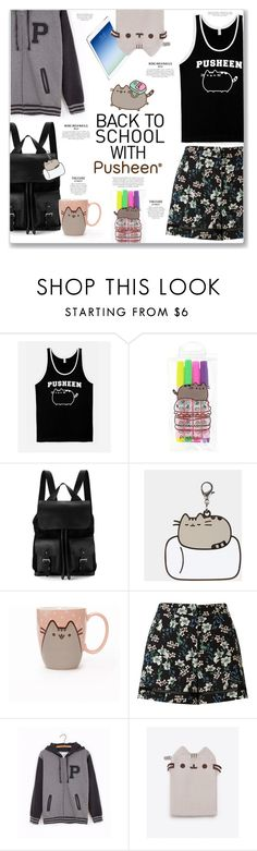 """Back to School With Pusheen#PVxPusheen"" by kellylynne68 ❤ liked on Polyvore featuring Pusheen, Aspinal of London, Miss Selfridge, BackToSchool, contestentry, pusheen, PVxPusheen and backtoschoolwithpusheen"