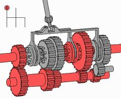 Gif on how a manual transmission works http://goo.gl/XnLH4s #mechanicaldesign #mechanical3dmodeling #mechanicaldrafting