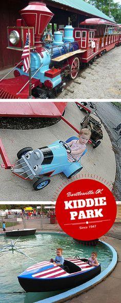 Kids love Kiddie Park in Bartlesville, OK where each ride is only $0.50.