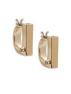 Miansai 18K Gold-Plated Flat Earrings - Gold - Size No Size