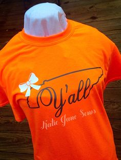 A personal favorite from my Etsy shop https://www.etsy.com/listing/458396600/tn-state-outline-yall-vols-t-shirt