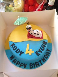 Frozen Olaf cake summer birthday - link leads no where
