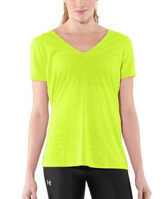 Take a look at this High-Vis Yellow Achieve Burnout Tee by Under Armour® on #zulily today!