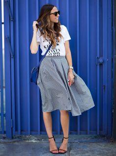DIY this midi skirt for date night.
