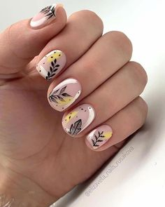 Hojas Autumn Nails, Fall Nail Art, Yellow Nails, Pink Nails, Neon Nails, Tribal Nails, Cute Nails, Pretty Nails, Hair And Nails