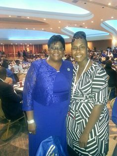 Soror Lakitha Bledsoe-Hughes posing with our lovely soror at the 2014 Boule in Washington, D. C.