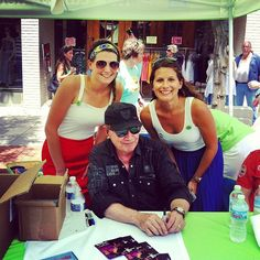 Legend Mitch Ryder with the #DigitalBus popsicle squad, @laurenmarie_s and @caroline_zski at Sonic Lunch.
