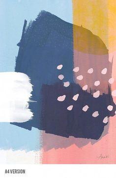 or Abstract Art Modern Minimalist Art by AMMIKI on Etsy art painting or Abstract Art, Modern Minimalist Art, Contemporary Art Print, Winter Life - Pink and Blue Pop Art, Art Minimaliste, Art Watercolor, Contemporary Abstract Art, Modern Contemporary, Modern Wall, Modern Artwork, Art Abstrait, Blue Art