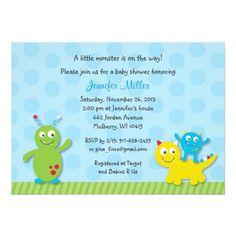 Lil Monster Baby Shower Invitation