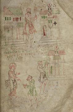 Abraham. The 'Caedmon manuscript', Anglo-Saxon, c.1000