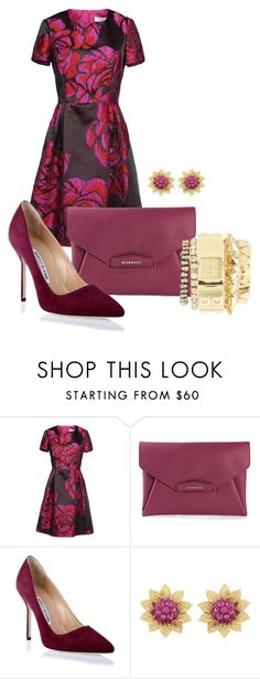 """""""Untitled #508"""" by rabija ❤ liked on Polyvore featuring Blugirl, Givenchy, Manolo Blahnik, Swarovski and Charlotte Russe"""