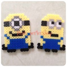 Minions perler beads by Pare_perlershop