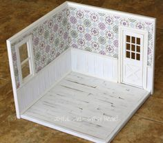 Joyful Girl Gypsy Heart Blythe Playscale Roombox Diorama White and Purple