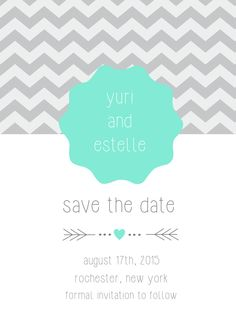 You pick your color! Save the Date Card | Customizable with your own text and details | CatPrint Design #408