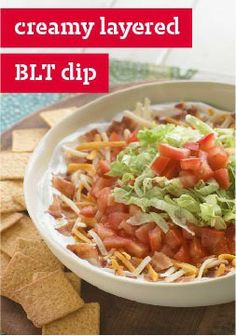 Creamy Layered BLT Dip – All the ingredients of what's arguably the best sandwich on earth, presented as an appetizer.