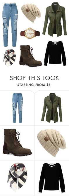 """""""A Walk in the Woods"""" by ready-for-the-rain ❤ liked on Polyvore featuring Diesel, Jodi, UGG, Burberry, Miss Selfridge and Longines"""
