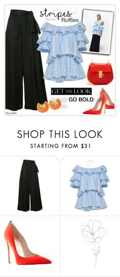 """""""Go Bold Stripes"""" by mcheffer ❤ liked on Polyvore featuring Tome, Blume, Ricardo Rodriguez and BoldStripes"""