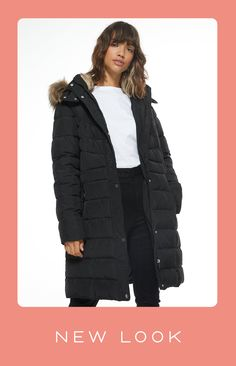 Puffer Jackets, Winter Jackets, New Look, Faux Fur, Latest Trends, Template, Autumn, Elegant, Coat