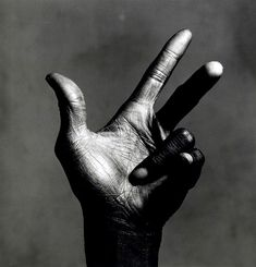 """The hand of Miles Davies"" by Irving Penn."