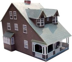 Paper Model - Queen Ann Style Home