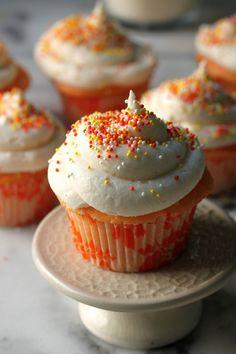 Tinted Confetti Cupcakes