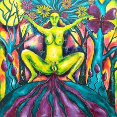 """Women's cyclical nature is shrouded in shame, fear and guilt in most cultures today. Menstruation is, in fact, the very essence of women's power. Women across the world are waking up to this power and sharing their new found knowledge. - Art """"Her Blood is Gold"""" by Kitty Star"""
