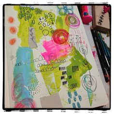 Art journaling - making marks. #mixedmedia #artjournaling by Robes-Pierre on Flickr.