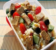 Tofu, Lunch To Go, Bento, Oatmeal, Rice, Vegetarian, Yummy Food, Fitness, Vegan