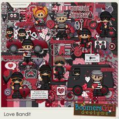 "BoomersGirl Designs: ""Love Bandit"" - New Digital Kit"