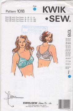 Kwik Sew 1018 1980s Misses Bra Pattern Lingerie Womens vintage sewing pattern by mbchills