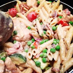 Creamy chicken and bacon pasta