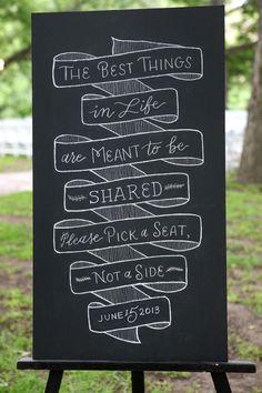 Signs | See the wedding on SMP: http://www.StyleMePretty.com/texas-weddings/austin/2014/01/23/vintage-romantic-wedding-at-salt-lick-bbq-in-austin-tx/ Braden Harris Photography