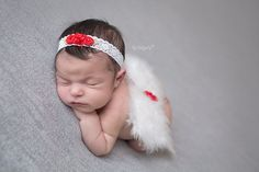 White and Red Butterfly Baby Wings with by LilMissSweetPea on Etsy