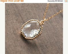 On Sale Hexagon NecklaceGeometric by lilabelledesign on Etsy