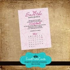 Enchanted Quinceanera Save the Date Magnets   Quinceanera ...