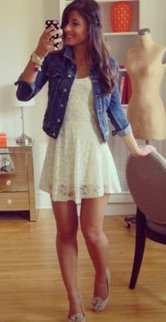 In lace skater dress (juniors) #dress #buyable