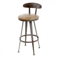 Charleston Forge Aries Swivel Barstool in Burnished Iron finish CF-C865