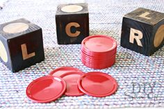 DIY giant LCR dice game
