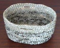 Crochet basket from plastic bags (Pull & Bear)