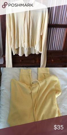 Brandy Melville butter yellow sweatshirt/pullover One size fits all. So great for any season. Shorter in the front, longer in the back. Hoodie. NEVER WORN. Bought in Brandy Melville store SoHo, NYC. Brandy Melville Tops