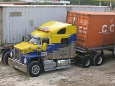 Old Yellow Blue & Gray Dodge