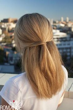 Quick and easy hairstyles for straight hair - MEDIUM HAIR TUTORIAL - Popular haircuts and easy tutorials and s Cool Easy Hairstyles, Ponytail Hairstyles, Wedding Hairstyles, Hairstyle Ideas, Long Hairstyles, Hairstyle Tutorials, Simple Hairstyles For Medium Hair, Straight Updo, Medieval Hairstyles