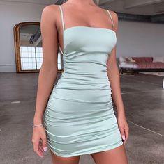 Satin Dresses, Sexy Dresses, Short Dresses, Short Backless Dress, Satin Mini Dress, Pageant Dresses, Clubbing Dresses, Satin Bodycon Dress, Ruched Dress