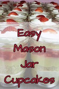 Mason Jar DIY Idea - Cupcakes In a Jar! DIY Instructions & Recipe Ideas