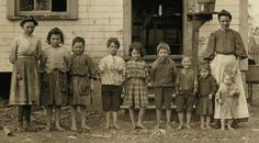 Catherine Young with nine of her eleven children.  Five of the children pictured worked with their mother in the Tifton (GA) Cotton Mill.  Photo by Lewis Hine for the National Child Labor Committee, 1909.    Joe Manning has extensively researched every member of the Young family.  His research shows how turn of the century issues influenced the lives of real people: child labor laws, unfair factory pay, the lack of a government security net and the devastating impact widowhood could have on…