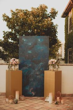 If you're an avid astrology fan or swear your love was written in the stars, here are some celestial wedding ideas that'll leave you starry-eyed. Wedding Shoot, Boho Wedding, Wedding Ceremony, Dream Wedding, Ceremony Backdrop, Starry Wedding, Galaxy Wedding, Wedding Backdrops, Bridal Shoot